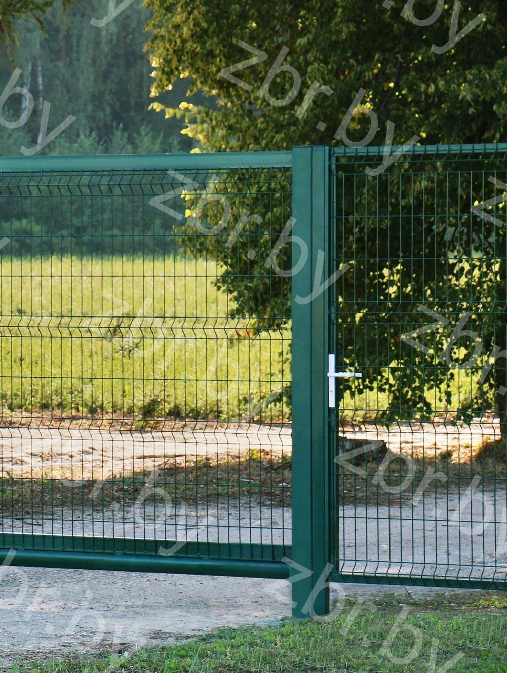 ворота распашные и калитки с 3D забором