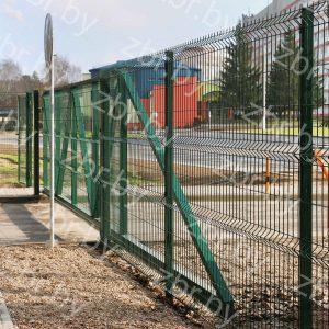 Ворота откатные 2,03х5,95м для 3д забора