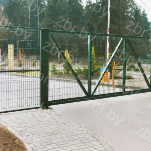 Ворота откатные 2,03х5,95м_калитка 2,03х1,2м для 3д евроограждения