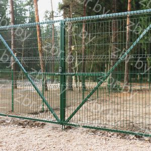 Ворота распашные 2,03х4м_для 3д забор_еврозабор