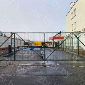 Ворота распашные двухстворчатые складываемые 9 м для 3д забора