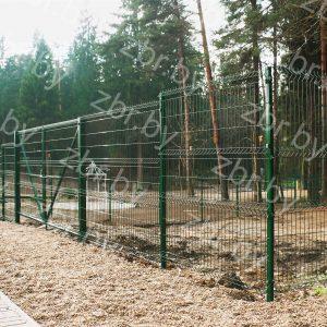 Ворота распашные_забор 3д _еврозабор