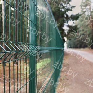 Забор 2,03х2,5м Ф5мм_RAL6005_еврозабор зеленый