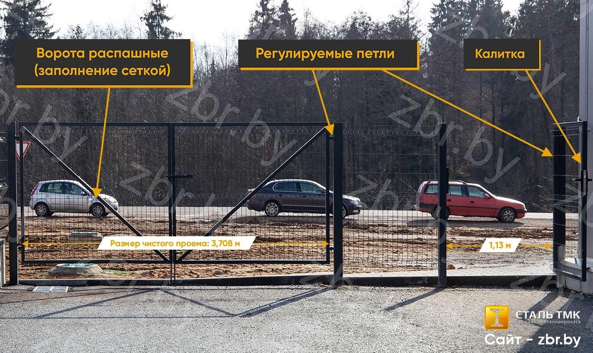 ворота и калитка к 3д еврозабору