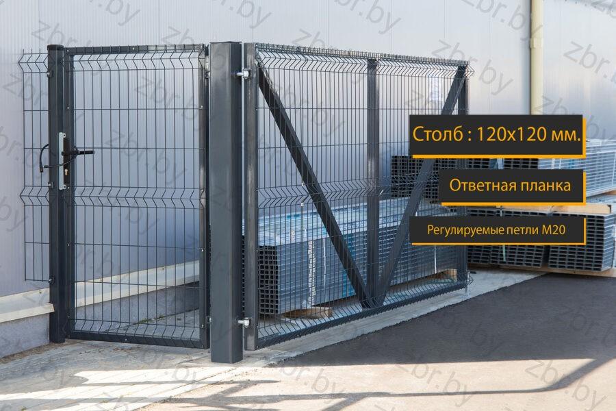 ворота вместе с калиткой