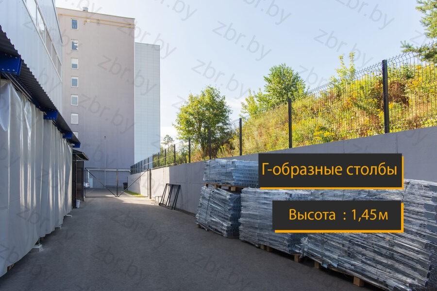3д - еврозабор на бетоне