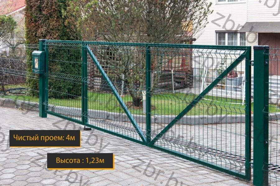 распашные ворота с калиткой купить минск