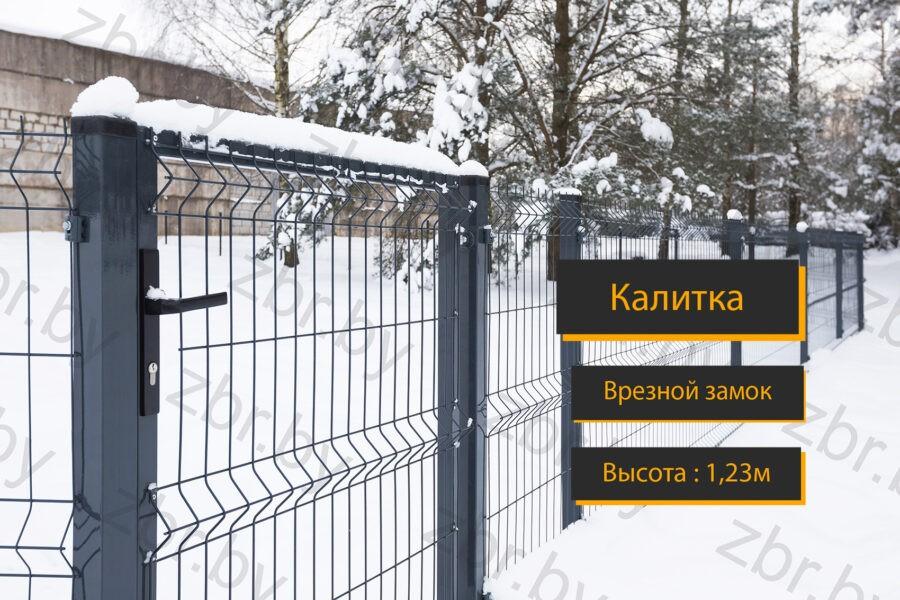 металлическая калитка 3д забор