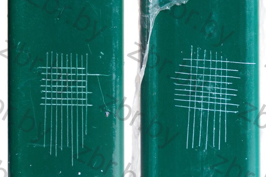 количество полимера на столбе