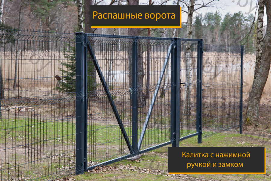 ворота к забору